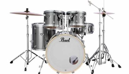 Pearl EXX725SPC-21K Export 22inch Fusion Plus 5-Piece Drum Kit with Hardware in Smokey Chrome - Front