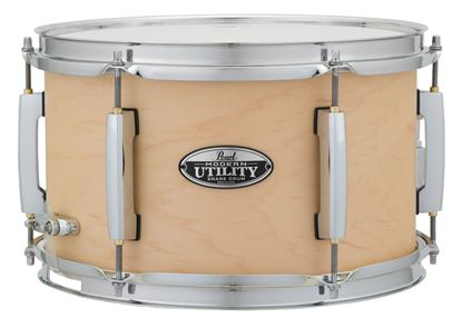 Pearl Modern Utility 12x7inch Snare Drum- Natural Matte - Front