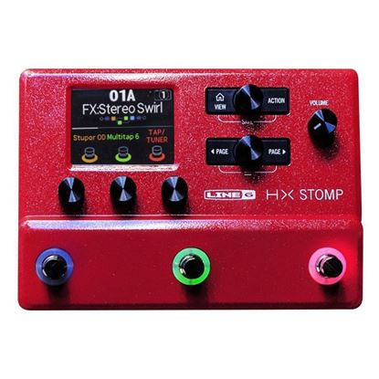 Line 6 HX Stomp Compact Professional Guitar Processor - Limited Edition Red