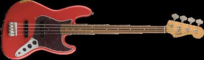 Fender Road Worn ''60s Jazz Bass Guitar PF Fiesta Red - Front