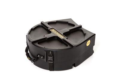Hardcase HN14SDX 14 Inch Snare Drum Case with Drum Head Storage Black