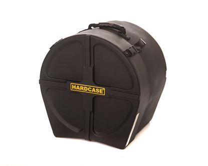 Hardcase HN16FT 16 Inch Tom Drum Case Black - Front