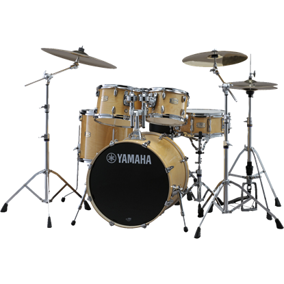 Yamaha Stage Custom Birch Euro Drum Kit – Natural Wood with PST5 Cymbals