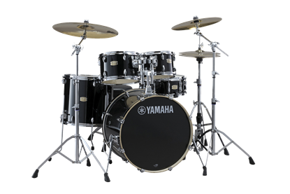 Yamaha Stage Custom Birch Euro Drum Kit – Raven Black inc. HW780 Hardware