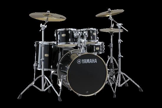Yamaha Stage Custom Birch Euro Drum Kit – Raven Black inc. HW780 Hardware