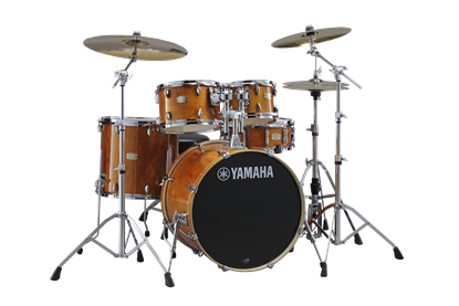 Yamaha Stage Custom Birch Fusion 20inch Drum Kit in Hone Amber with PST5 Cymbals
