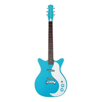 Danelectro 59M NOS+ Electric Guitar Baby Blue - Front
