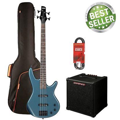 Ibanez SR320 Bass Guitar Starter Pack - Baltic Blue Metallic