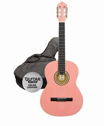 Ashton SPCG34PK - 3/4 Size Classical Guitar Starter Pack - Pink