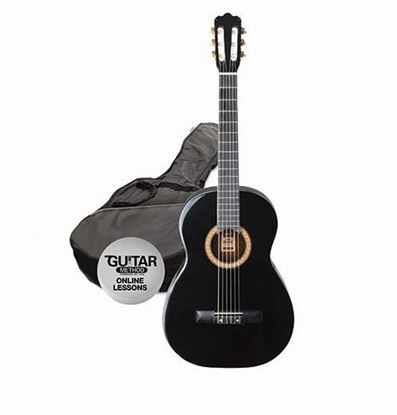 Ashton SPCG12BK - 1/2 Size Classical Guitar Starter Pack - Black