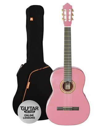 Ashton SPCG44PK - Full Size Classical Guitar Starter Pack - Pink