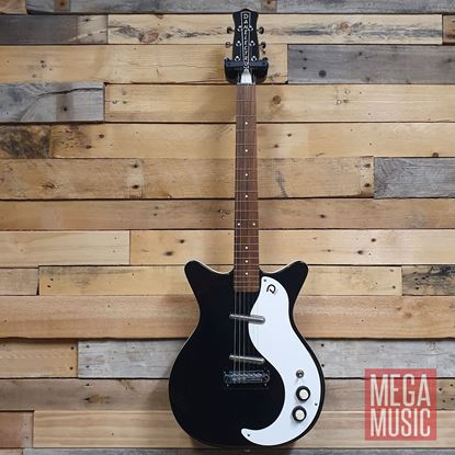 Danelectro 59M Original Electric Guitar Black - Front