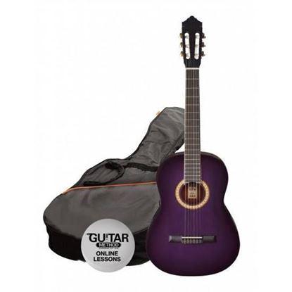 Ashton SPCG34TP - 3/4 Size Classical Guitar Starter Pack - Purple