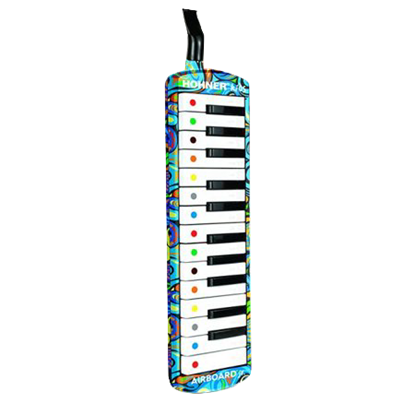 Hohner Airboard Jr 25-Key Melodica with Padded Case, Stickers & Song Book - Limited Design - Front