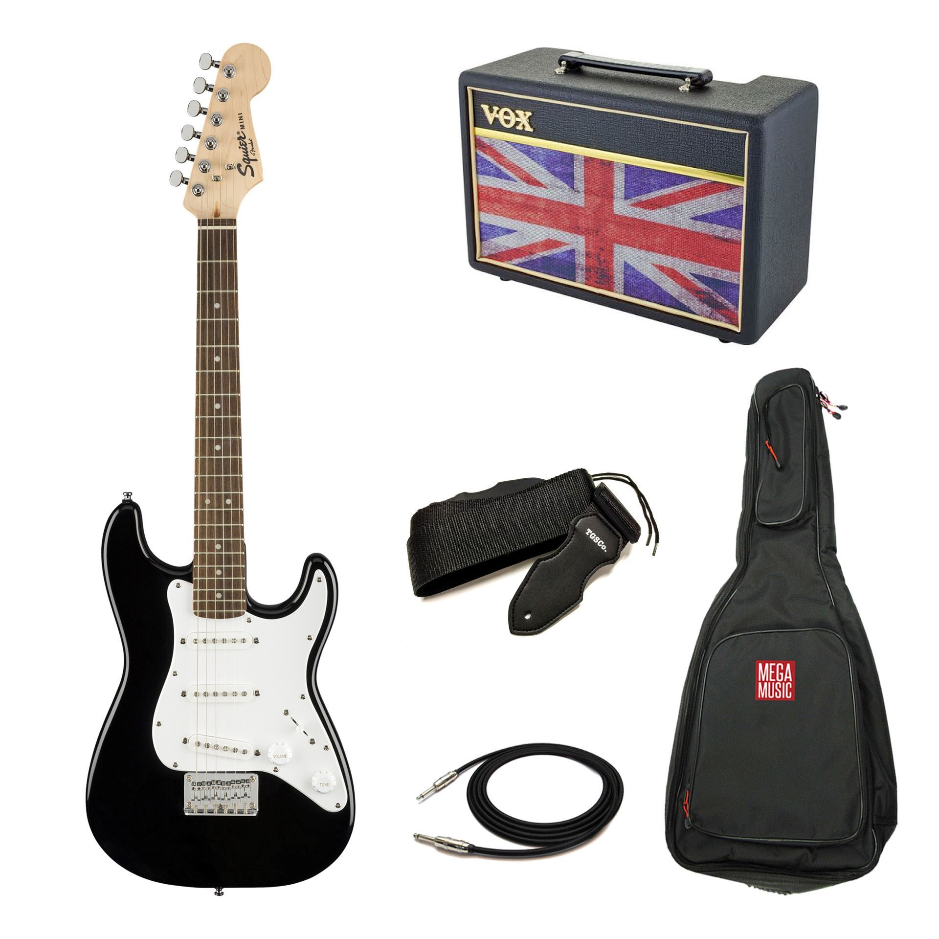Squier Mini Strat Electric Guitar and Ashton Amp Starter Pack