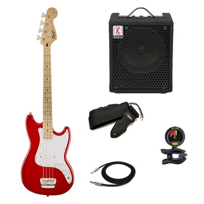 Squier Affinity Bronco Bass Guitar - Red