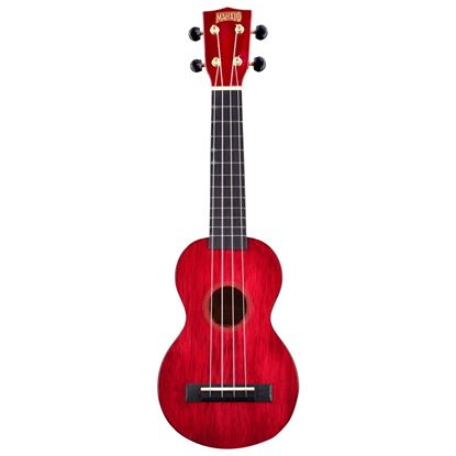 Mahalo MH1TWR Hano Series Soprano in Trans Wine Red - Front