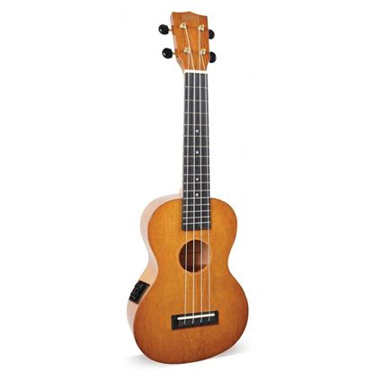 Mahalo Hano Series Concert Ukulele with Pickup - Vintage Natural