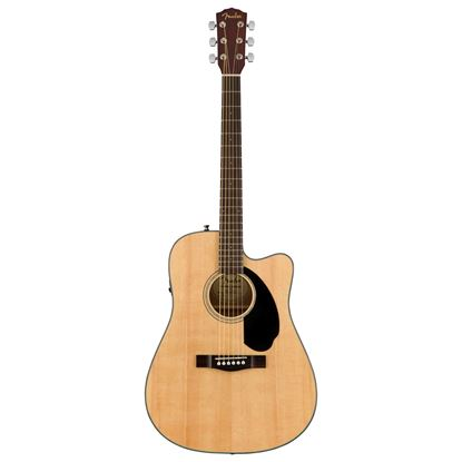 Fender CD-60SCE Dreadnought Acoustic Guitar WN Natural - Front