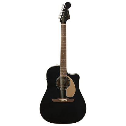 Fender California Redondo Player Acoustic Guitar Jetty Black - Front