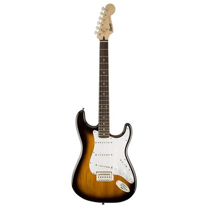 Squier Bullet Stratocaster Electric Guitar LRL Brown Sunburst - Front