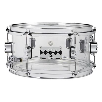 PDP Chad Smith Signature 12in x 6 Snare Drum in Clear Acrylic