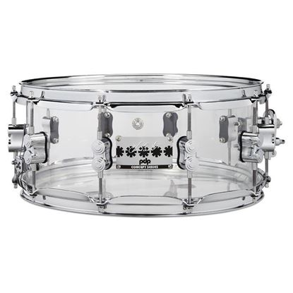 PDP Chad Smith Signature 14in x 6 Snare Drum in Clear Acrylic