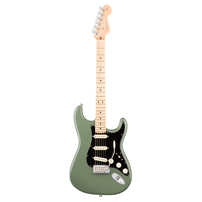 Fender American Professional Stratocaster Electric Guitar - Maple Neck - Antique Olive - Front