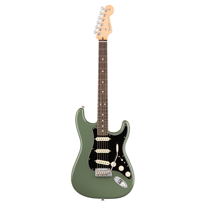 Fender American Professional Stratocaster Electric Guitar - Rosewood Fretboard - Antique Olive - Front