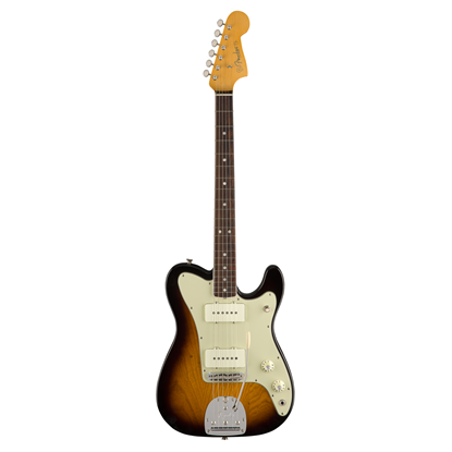 Fender Parallel Universe Jazz-Tele Hybrid Electric Guitar - Rosewood Fretboard - 2 Tone Sunburst - Front