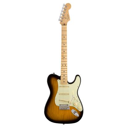 Fender Parallel Universe Strat Tele Hybrid Electric Guitar - Maple Neck - 2 Tone Sunburst - Front