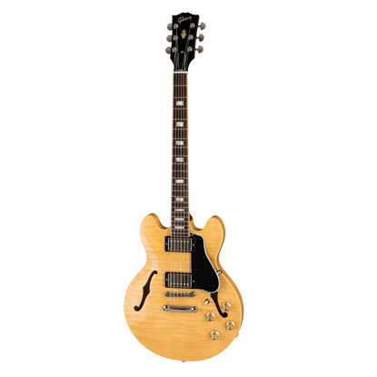 Gibson ES-339 Electric Guitar - Gloss Dark Natural - Front