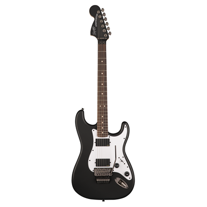 Squier Contemporary Stratocaster HH FR Electric Guitar RW Flat Black - Front