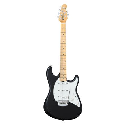 Ernie Ball Music Man Cutlass SSS Electric Guitar Tremolo MN, Black