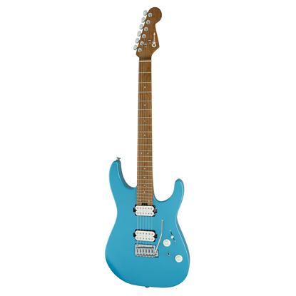 Charvel Pro-Mod DK24 HH 2PT CM Electric Guitar MN Matte Blue Frost - Front