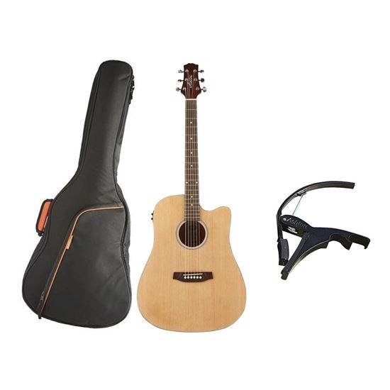 Ashton D20CEQ Acoustic Guitar Bundle