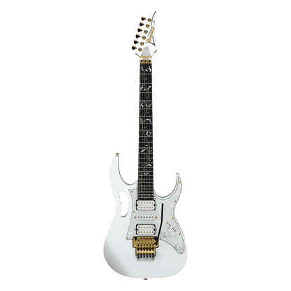 Ibanez JEM7VP Premium Steve Vai Signature Model Electric Guitar - White - Front