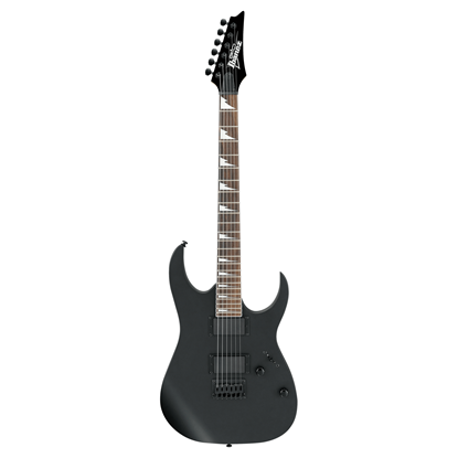 Ibanez RG121DX BKF Electric Guitar - Black Flat - Front View