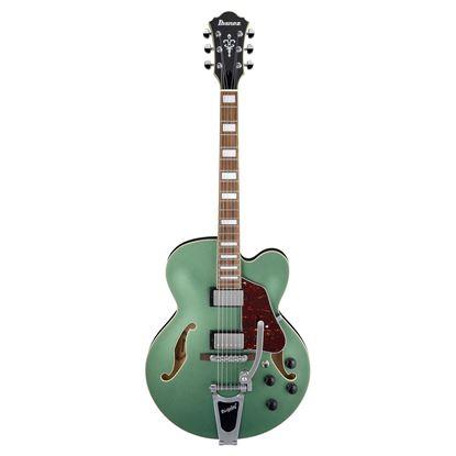 Ibanez AFS75T Artcore Hollow Body Guitar - Metallic Green Flat