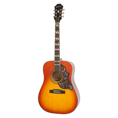 Epiphone Hummingbird Pro Acoustic Guitar Faded Cherry Burst - Front