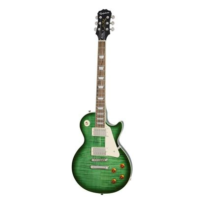 Epiphone Les Paul Standard PlusTop Pro Electric Guitar Green Burst - Front