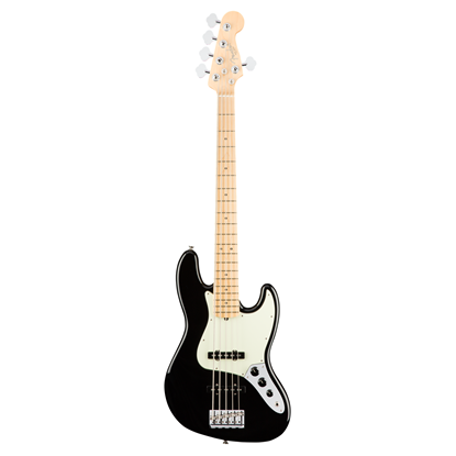 Fender American Professional 5 String Jazz Bass Guitar - Maple Neck - Black
