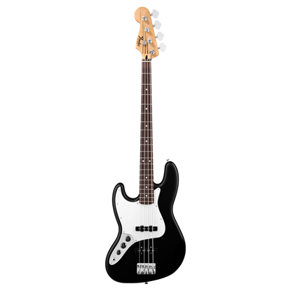 Fender Standard Jazz Bass Guitar Left Handed RW - Black - Front