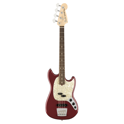 Fender American Performer Mustang Bass Electric Guitar - Rosewood Neck - Aubergine