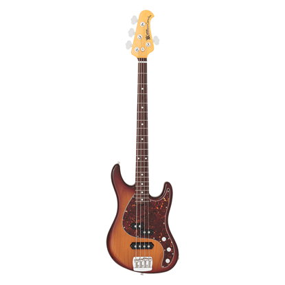 Ernie Ball Music Man Caprice Bass Heritage Tobacco with Tort PG & Rosewood Fretboard - Front