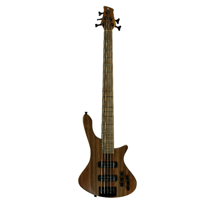 Cole Clark Long Lady 5-String Bass Guitar - Redwood Top - Front
