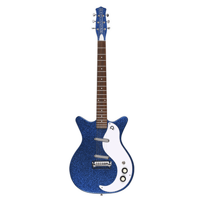 Danelectro 59M NOS+ 60th Anniversary Electric Guitar Deep Blue Metal Flake - Front