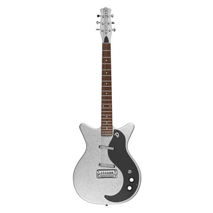 Danelectro 59M NOS+ 60th Anniversary Electric Guitar Silver Metal Flake - Front