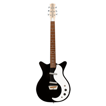 Danelectro Stock '59 Electric Guitar Black - Front