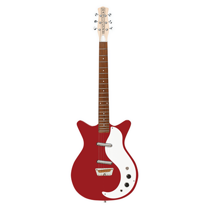 Danelectro Stock '59 Electric Guitar Red - Front
